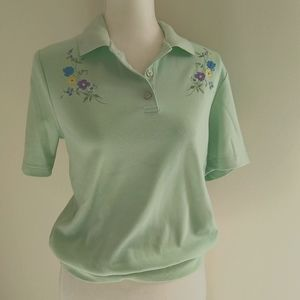 VTG collared embroidered top